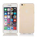 Coque Apple iPhone 6 Plus Flip Silicone Gel Housse - Clear