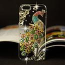 Coque Apple iPhone 6 Plus Luxe Paon Diamant Bling Etui Rigide - Colorful