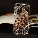 Coque Apple iPhone 6 Plus Luxe Paon Diamant Bling Etui Rigide - Pourpre
