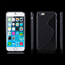 Coque Apple iPhone 6 S-Line Silicone Gel Housse - Noire