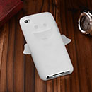 Coque Apple iPod Touch 4 Ange Silicone Housse Gel - Blanche