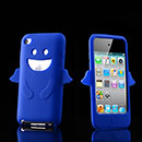 Coque Apple iPod Touch 4 Ange Silicone Housse Gel - Bleue Ciel