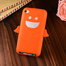 Coque Apple iPod Touch 4 Ange Silicone Housse Gel - Orange