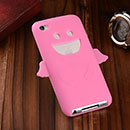 Coque Apple iPod Touch 4 Ange Silicone Housse Gel - Rose