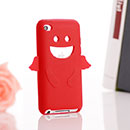 Coque Apple iPod Touch 4 Ange Silicone Housse Gel - Rouge