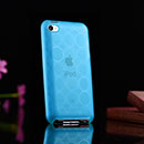 Coque Apple iPod Touch 4 Cercle Gel TPU Housse - Bleu
