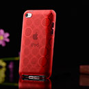 Coque Apple iPod Touch 4 Cercle Gel TPU Housse - Rouge