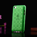 Coque Apple iPod Touch 4 Cercle Gel TPU Housse - Verte