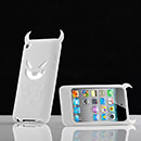 Coque Apple iPod Touch 4 Demon Silicone Housse Gel - Blanche