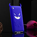 Coque Apple iPod Touch 4 Demon Silicone Housse Gel - Bleu