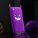 Coque Apple iPod Touch 4 Demon Silicone Housse Gel - Pourpre