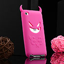 Coque Apple iPod Touch 4 Demon Silicone Housse Gel - Rose Chaud