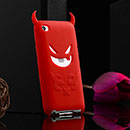 Coque Apple iPod Touch 4 Demon Silicone Housse Gel - Rouge