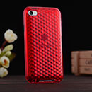 Coque Apple iPod Touch 4 Diamant Silicone Gel Housse - Rouge