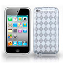 Coque Apple iPod Touch 4 Grid Gel TPU Housse - Blanche