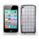 Coque Apple iPod Touch 4 Grid Gel TPU Housse - Gris