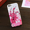 Coque Apple iPod Touch 5 Fleurs Silicone Housse Gel - Rose