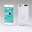 Coque Apple iPod Touch 5 Papillon Plastique Etui Rigide - Blanche