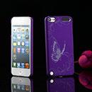 Coque Apple iPod Touch 5 Papillon Plastique Etui Rigide - Pourpre