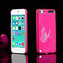Coque Apple iPod Touch 5 Papillon Plastique Etui Rigide - Rose Chaud