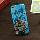 Coque Apple iPod Touch 5 Papillon Silicone Housse Gel - Bleu