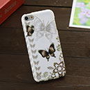 Coque Apple iPod Touch 5 Papillon Silicone Housse Gel - Gris