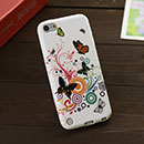 Coque Apple iPod Touch 5 Papillon Silicone Housse Gel - Verte