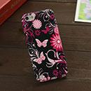 Coque Apple iPod Touch 5 Papillon Silicone Housse - Noire