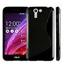 Coque Asus PadFone S PF500KL S-Line Silicone Gel Housse - Noire
