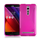 Coque Asus Zenfone 2 ZE500CL S-Line Silicone Gel Housse - Rose Chaud