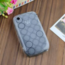 Coque Blackberry Curve 8520 Cercle Gel TPU Housse - Blanche