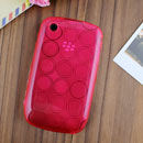 Coque Blackberry Curve 8520 Cercle Gel TPU Housse - Rose
