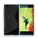 Coque Blackberry Leap S-Line Silicone Gel Housse - Noire