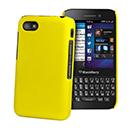 Coque Blackberry Q5 Plastique Etui Rigide - Jaune