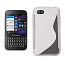 Coque Blackberry Q5 S-Line Silicone Gel Housse - Blanche