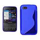 Coque Blackberry Q5 S-Line Silicone Gel Housse - Bleu
