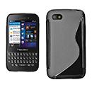 Coque Blackberry Q5 S-Line Silicone Gel Housse - Noire