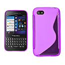Coque Blackberry Q5 S-Line Silicone Gel Housse - Pourpre