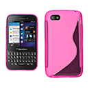 Coque Blackberry Q5 S-Line Silicone Gel Housse - Rose Chaud