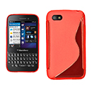 Coque Blackberry Q5 S-Line Silicone Gel Housse - Rouge