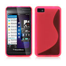 Coque Blackberry Z10 S-Line Silicone Gel Housse - Rose Chaud