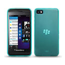 Coque Blackberry Z10 Silicone Transparent Housse - Verte