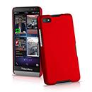 Coque Blackberry Z30 Plastique Etui Rigide - Rouge