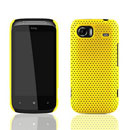 Coque HTC 7 Mozart HD3 Filet Plastique Etui Rigide - Jaune