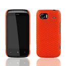 Coque HTC 7 Mozart HD3 Filet Plastique Etui Rigide - Orange