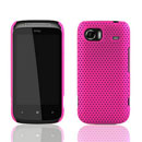 Coque HTC 7 Mozart HD3 Filet Plastique Etui Rigide - Rose Chaud