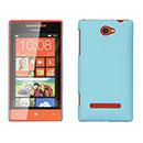 Coque HTC 8S Windows Phone Plastique Etui Rigide - Bleu