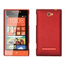 Coque HTC 8S Windows Phone Plastique Etui Rigide - Rouge