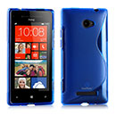 Coque HTC 8X Windows Phone S-Line Silicone Gel Housse - Bleu