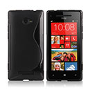 Coque HTC 8X Windows Phone S-Line Silicone Gel Housse - Noire